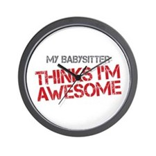 Babysitter Awesome Wall Clock