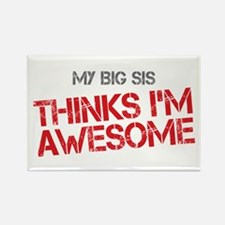 Big Sis Awesome Rectangle Magnet