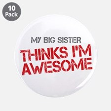 "Big Sister Awesome 3.5"" Button (10 pack)"