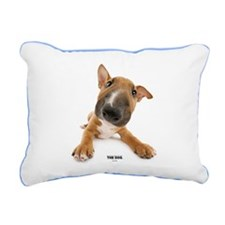 Bull Terrier Rectangular Canvas Pillow