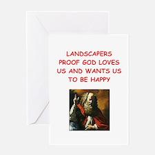 landscaper Greeting Cards