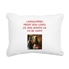 landscaper Rectangular Canvas Pillow