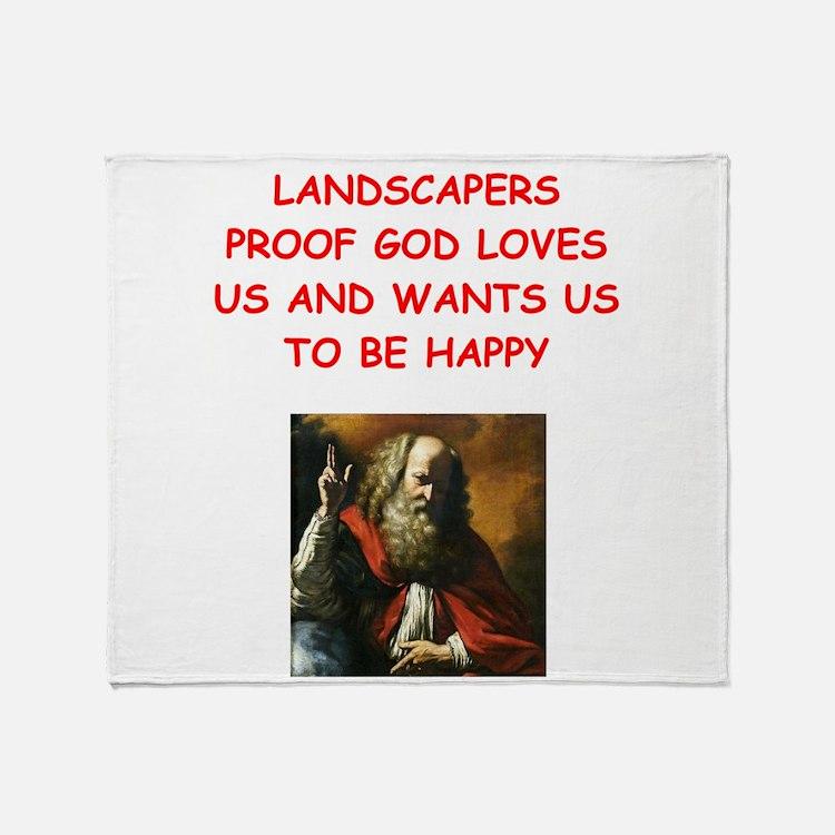 landscaper Throw Blanket