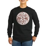 Japanese Design Long Sleeve Dark T-Shirt