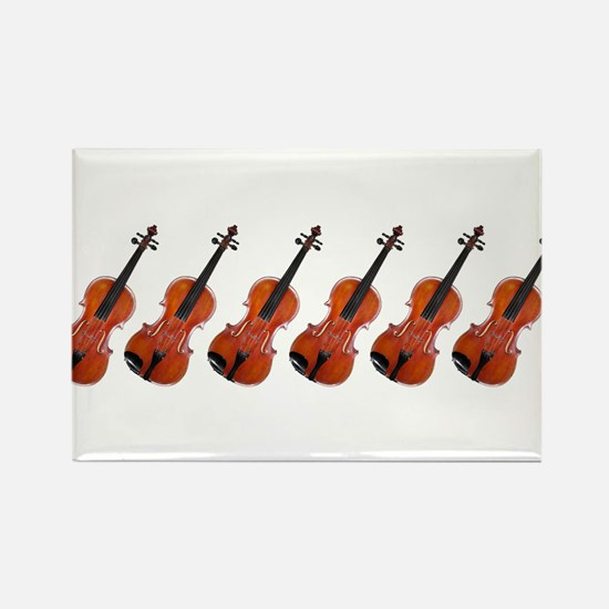 Violins / Violas in a Row Rectangle Magnet