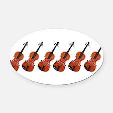 Violins / Violas in a Row Oval Car Magnet