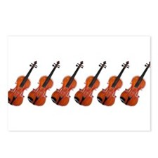 Violins / Violas in a Row Postcards (Package of 8)