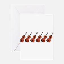 Violins / Violas in a Row Greeting Card