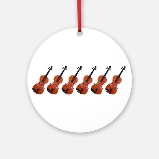 Violins / Violas in a Row Ornament (Round)