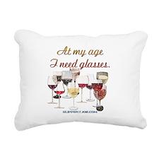 Glasses_10 Rectangular Canvas Pillow