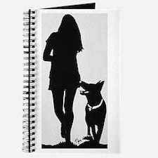 German Shepherd Heel Silhoutte Journal