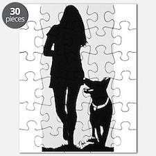 German Shepherd Heel Silhoutte Puzzle