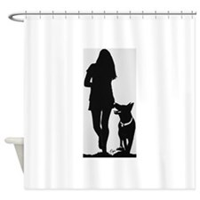 german shepherd shower curtains german shepherd fabric shower curtain liner. Black Bedroom Furniture Sets. Home Design Ideas
