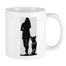 German Shepherd Heel Silhoutte Mugs
