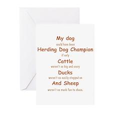 Herding Champion CDS Greeting Cards (Pk of 10)