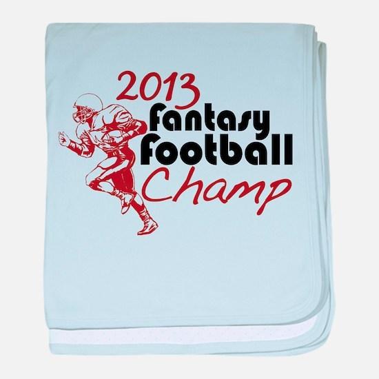 2013 Fantasy Football Champ baby blanket