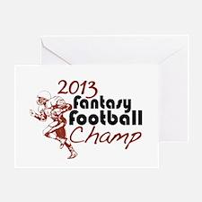 2013 Fantasy Football Champ Greeting Card