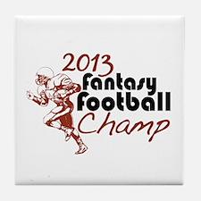 2013 Fantasy Football Champ Tile Coaster