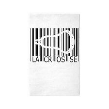Lacrosse Barcode 3'x5' Area Rug
