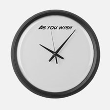 Unique Wishes Large Wall Clock