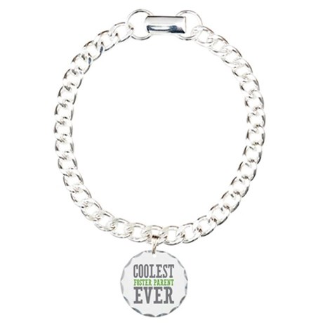 Coolest Foster Parent Ever Charm Bracelet, One Cha