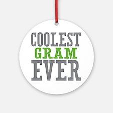 Coolest Gram Ever Ornament (Round)