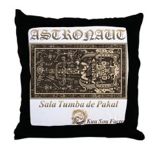 Sala Tumba de Pakal Throw Pillow