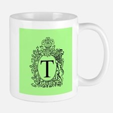 Green Personalized Monogram Mugs