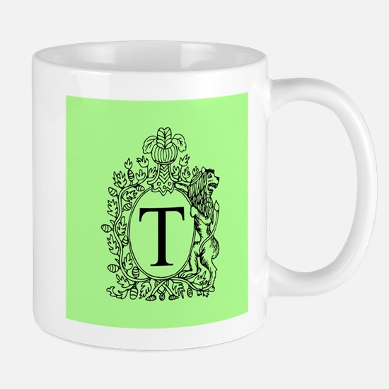 Green Personalized Monogram Mugs