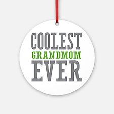 Coolest Grandmom Ever Ornament (Round)
