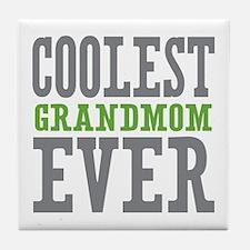 Coolest Grandmom Ever Tile Coaster
