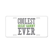 Coolest Great Gammy Ever Aluminum License Plate