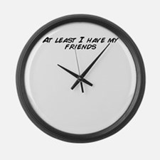 At least i have chicken Large Wall Clock