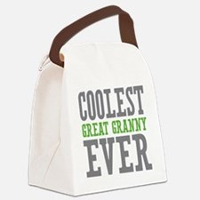 Coolest Great Granny Ever Canvas Lunch Bag