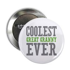 "Coolest Great Granny Ever 2.25"" Button (10 pack)"