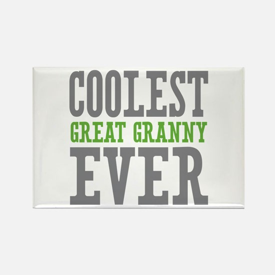 Coolest Great Granny Ever Rectangle Magnet