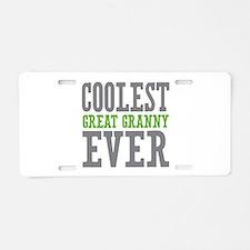 Coolest Great Granny Ever Aluminum License Plate