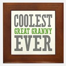 Coolest Great Granny Ever Framed Tile