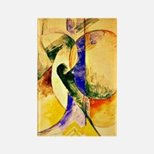 Franz Marc - Abstract Composition Rectangle Magnet