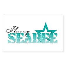 I love my Seabee Rectangle Decal