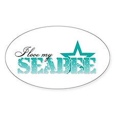 I love my Seabee Oval Decal