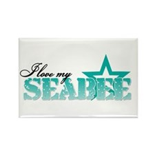 I love my Seabee Rectangle Magnet