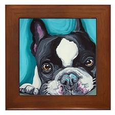Frenchie Framed Tile