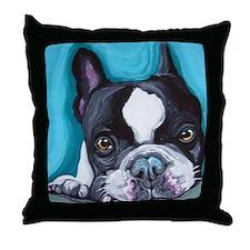 Frenchie Throw Pillow