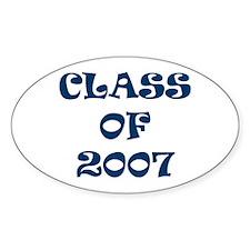 Class of 2007 Graduates Oval Decal