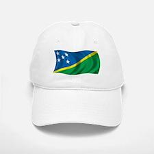 Wavy Solomon Islands Flag Baseball Baseball Cap