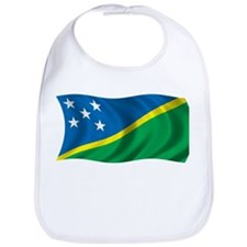 Wavy Solomon Islands Flag Bib
