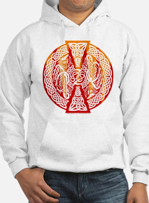 Celtic Knotwork Dragons Fire Hoodie