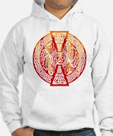 Celtic Knotwork Dragons Fire Jumper Hoody