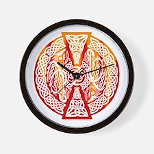 Celtic Knotwork Dragons Fire Wall Clock